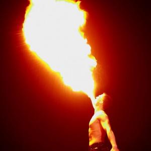Feuershow Halloween
