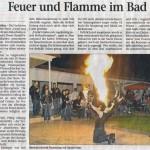 Feuershow Presseartikel