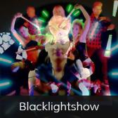 Feuershows Blacklightshow