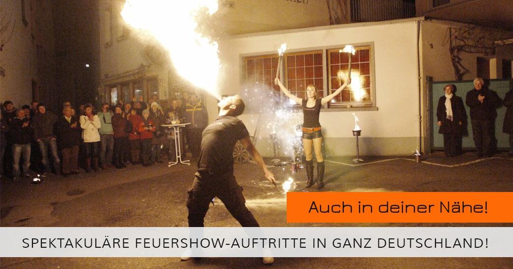 Feuershows Auftritte