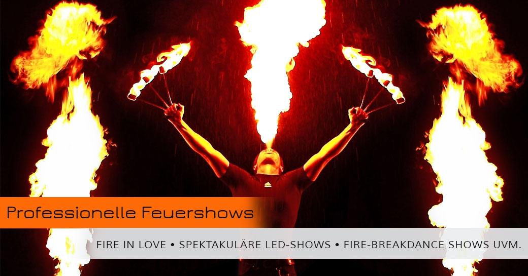 Feuerundbewegung Feuershows